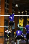 Barbados 2 Brandon Callender Goes High For The Kill Over The Jamaica Blocks